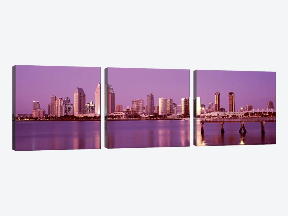 Buildings at the waterfront, San Diego, California, USA 2010 #6 by Panoramic Images 3-piece Art Print