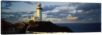 Lighthouse at the coast, Broyn Bay Light House, New South Wales, Australia Canvas Art Print
