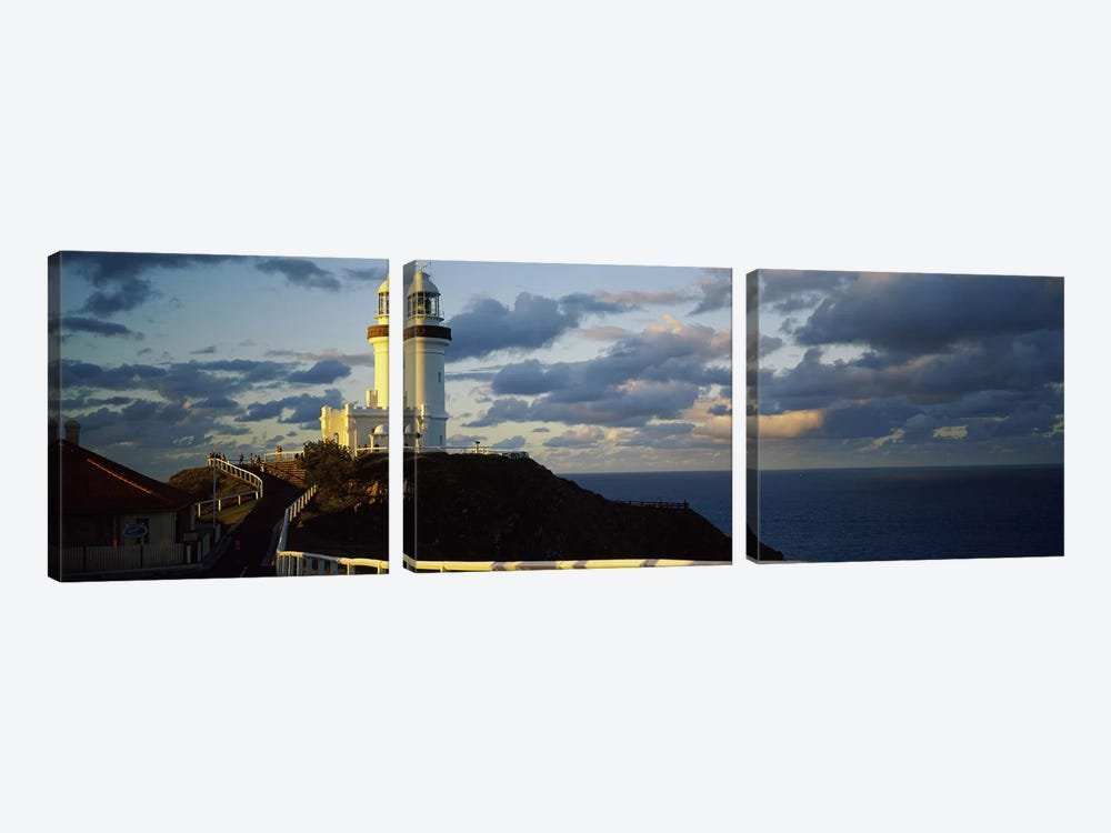Lighthouse at the coast, Broyn Bay Light House, New South Wales, Australia by Panoramic Images 3-piece Art Print