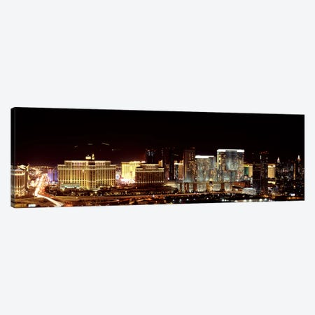 City lit up at night, Las Vegas, Nevada, USA 2010 Canvas Print #PIM8172} by Panoramic Images Canvas Print