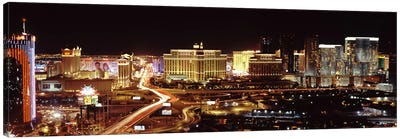 City lit up at night, Las Vegas, Nevada, USA Canvas Art Print
