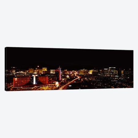 City lit up at night, Las Vegas, Nevada, USA 2010 #2 Canvas Print #PIM8174} by Panoramic Images Canvas Art
