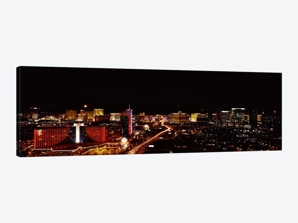 City lit up at night, Las Vegas, Nevada, USA 2010 #2 by Panoramic Images 1-piece Canvas Art Print