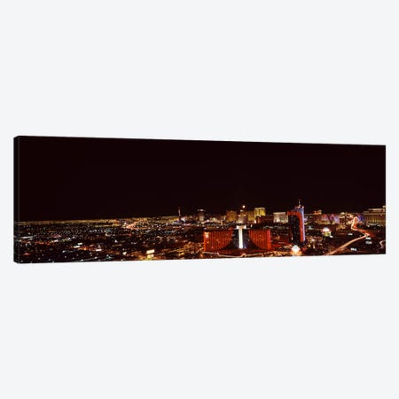 City lit up at night, Las Vegas, Nevada, USA #2 Canvas Print #PIM8175} by Panoramic Images Canvas Art