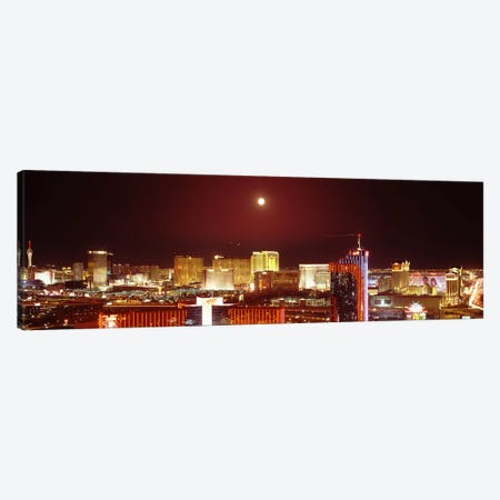City lit up at night, Las Vegas, Nevada, USA #3 Canvas Print #PIM8176} by Panoramic Images Canvas Art