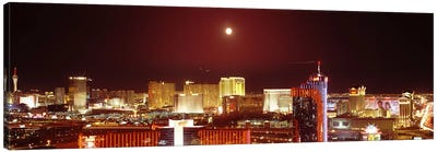 City lit up at night, Las Vegas, Nevada, USA #3 Canvas Art Print