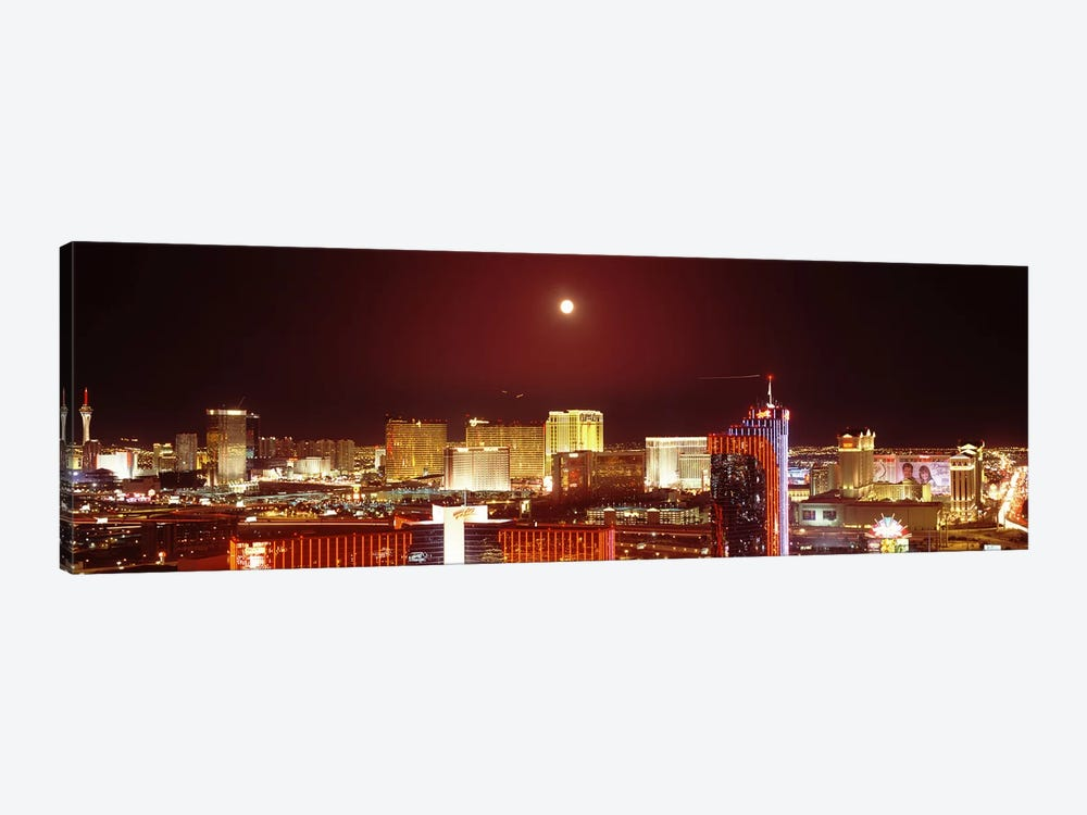 City lit up at night, Las Vegas, Nevada, USA #3 by Panoramic Images 1-piece Canvas Print