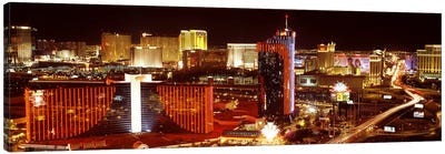 City lit up at night, Las Vegas, Nevada, USA #4 Canvas Art Print