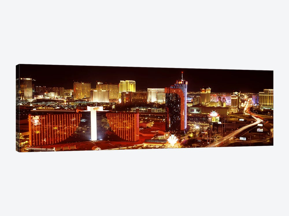 City lit up at night, Las Vegas, Nevada, USA #4 by Panoramic Images 1-piece Canvas Wall Art