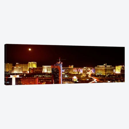 City lit up at night, Las Vegas, Nevada, USA #5 Canvas Print #PIM8178} by Panoramic Images Canvas Print
