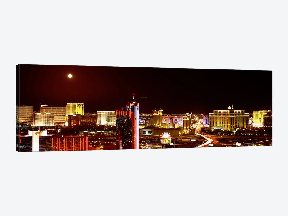 City lit up at night, Las Vegas, Nevada, USA #5 by Panoramic Images 1-piece Canvas Art Print