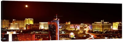 City lit up at night, Las Vegas, Nevada, USA #5 Canvas Art Print