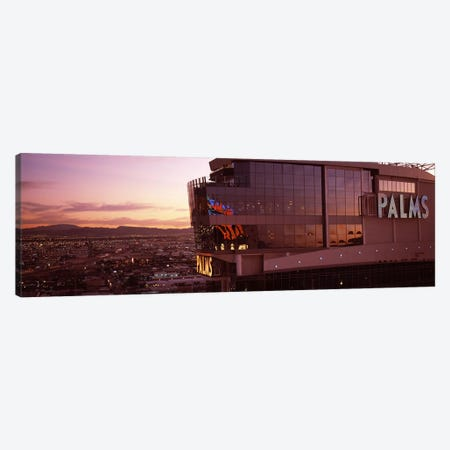 Hotel lit up at dusk, Palms Casino Resort, Las Vegas, Nevada, USA Canvas Print #PIM8179} by Panoramic Images Art Print