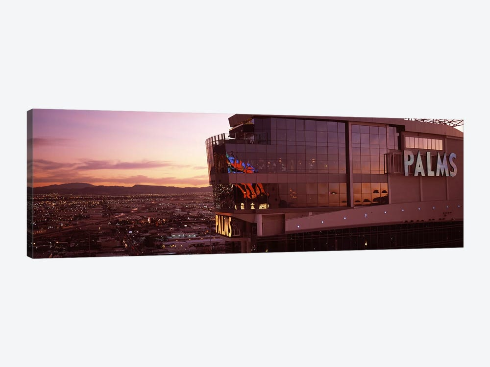 Hotel lit up at dusk, Palms Casino Resort, Las Vegas, Nevada, USA by Panoramic Images 1-piece Canvas Art