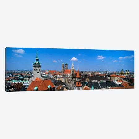 Aerial View Of the Altstadt District, Munich, Bavaria, Germany Canvas Print #PIM817} by Panoramic Images Canvas Artwork