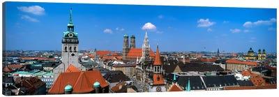 Aerial View Of the Altstadt District, Munich, Bavaria, Germany Canvas Print #PIM817