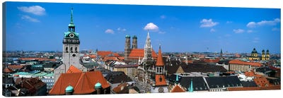 Aerial View Of the Altstadt District, Munich, Bavaria, Germany Canvas Art Print