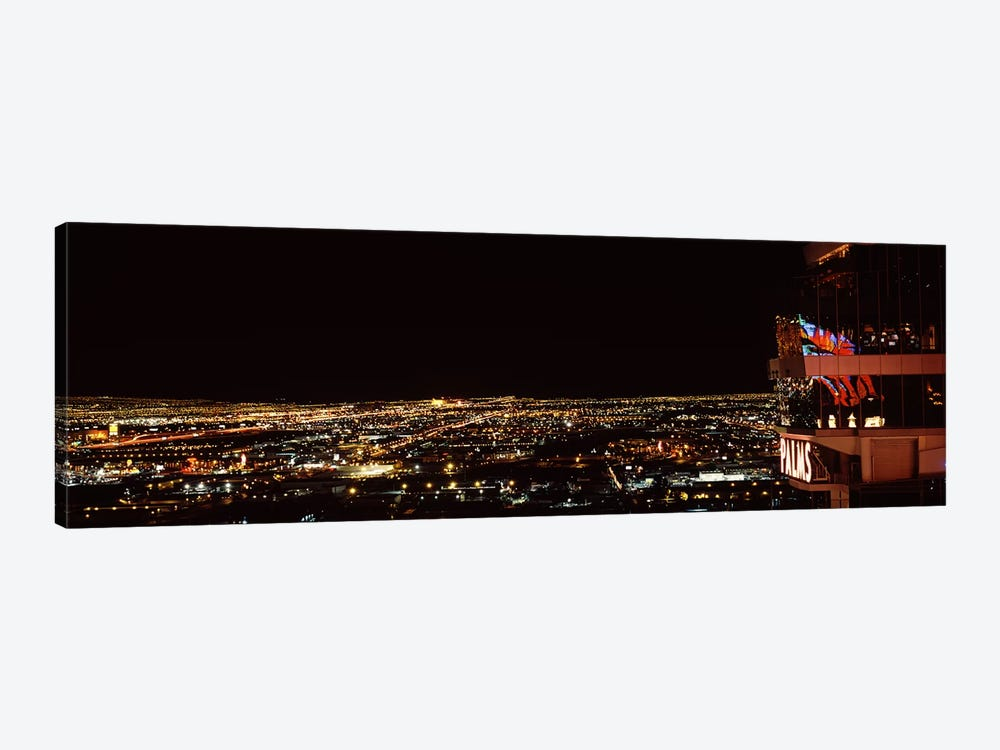Hotel lit up at night, Palms Casino Resort, Las Vegas, Nevada, USA 2010 by Panoramic Images 1-piece Canvas Art