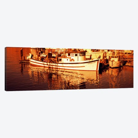 Fishing boats in the bay, Morro Bay, San Luis Obispo County, California, USA Canvas Print #PIM8181} by Panoramic Images Canvas Artwork