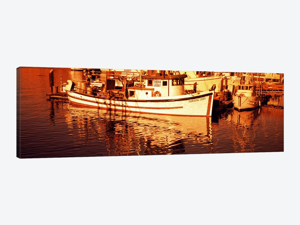Fishing boats in the bay, Morro Bay, San Luis Obispo County, California, USA by Panoramic Images 1-piece Canvas Print