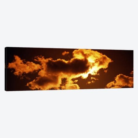 Clouds at sunset Canvas Print #PIM8188} by Panoramic Images Canvas Wall Art