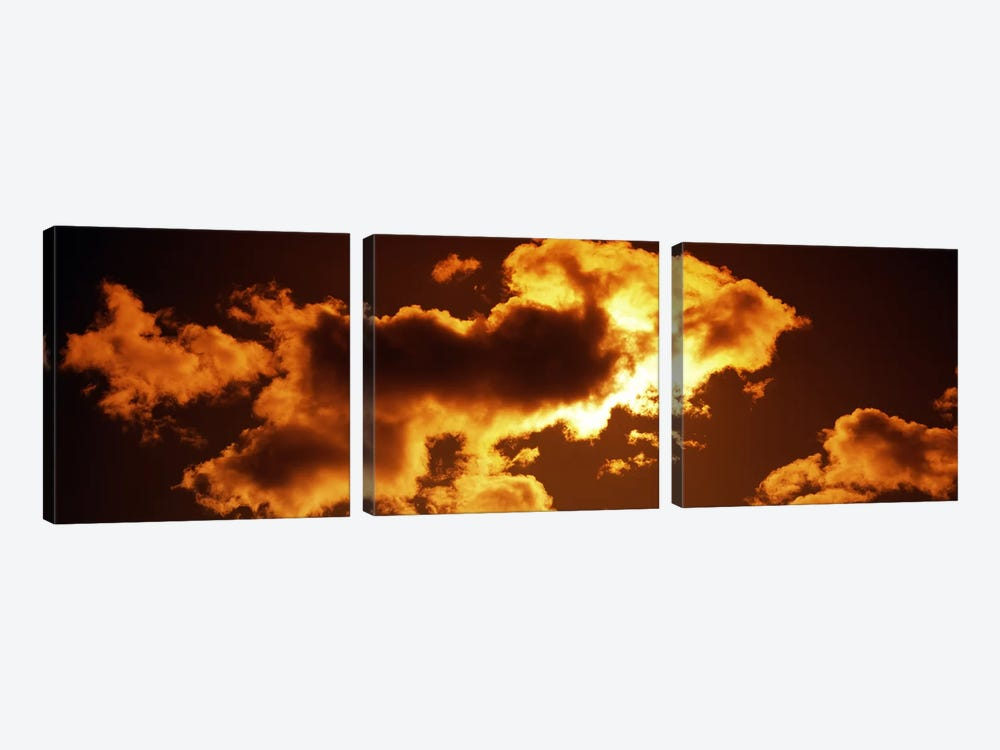 Clouds at sunset by Panoramic Images 3-piece Canvas Art