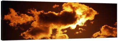 Clouds at sunset Canvas Art Print