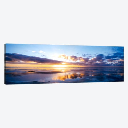 Partly Cloudy Seascape, North Sea, Germany Canvas Print #PIM818} by Panoramic Images Art Print