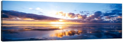 Partly Cloudy Seascape, North Sea, Germany Canvas Print #PIM818