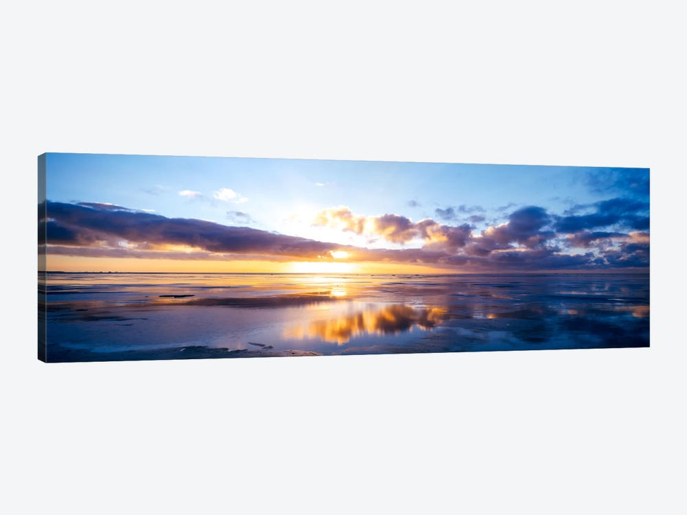 Partly Cloudy Seascape, North Sea, Germany by Panoramic Images 1-piece Canvas Artwork