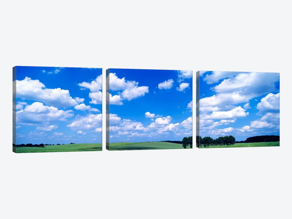 Cloudy Countryside Landscape, Germany by Panoramic Images 3-piece Art Print