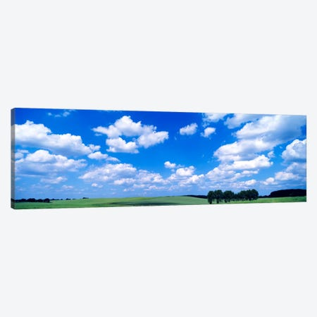 Cloudy Countryside Landscape, Germany 3-Piece Canvas #PIM819} by Panoramic Images Art Print