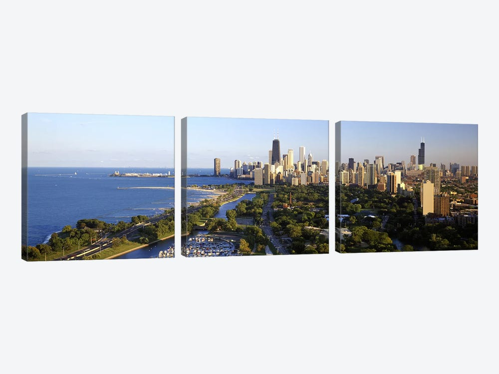 USA, Illinois, Chicago by Panoramic Images 3-piece Canvas Print