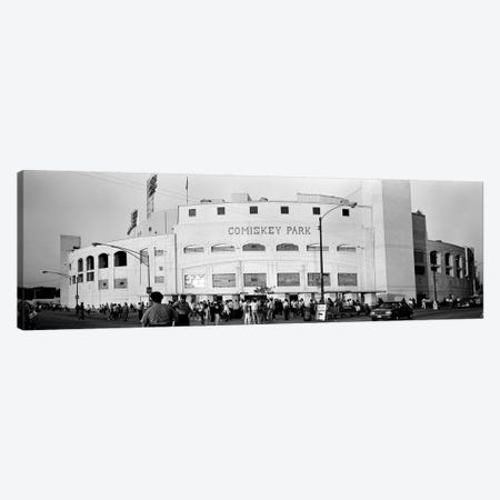 People outside a baseball park, old Comiskey Park, Chicago, Cook County, Illinois, USA Canvas Print #PIM8206} by Panoramic Images Canvas Art