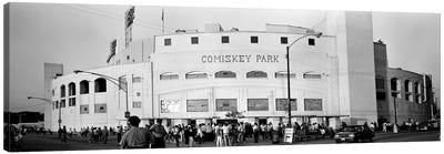 People outside a baseball park, old Comiskey Park, Chicago, Cook County, Illinois, USA Canvas Art Print