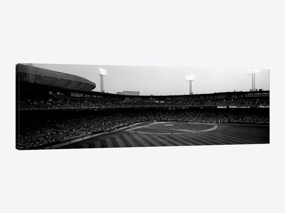 Spectators in a baseball parkU.S. Cellular Field, Chicago, Cook County, Illinois, USA by Panoramic Images 1-piece Canvas Art Print