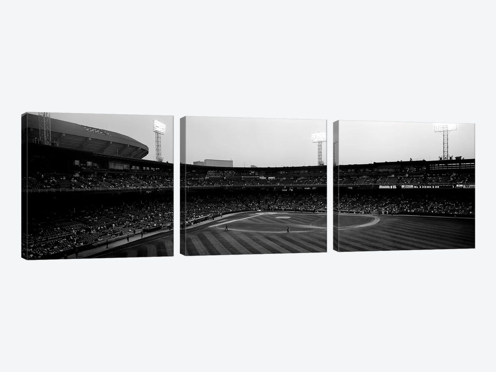 Spectators in a baseball parkU.S. Cellular Field, Chicago, Cook County, Illinois, USA by Panoramic Images 3-piece Art Print