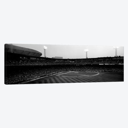 Spectators in a baseball parkU.S. Cellular Field, Chicago, Cook County, Illinois, USA 3-Piece Canvas #PIM8207} by Panoramic Images Canvas Artwork