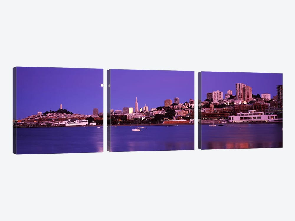 Buildings at the waterfront, San Francisco, California, USA #2 by Panoramic Images 3-piece Canvas Artwork