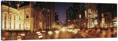 Traffic on the road at dusk, Michigan Avenue, Chicago, Cook County, Illinois, USA Canvas Print #PIM8210