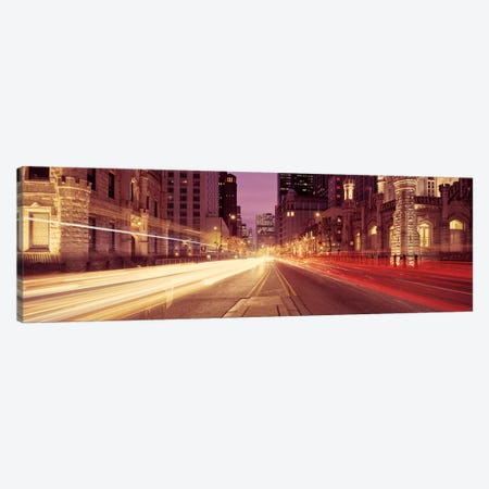 Traffic on the road at dusk, Michigan Avenue, Chicago, Cook County, Illinois, USA #2 Canvas Print #PIM8211} by Panoramic Images Canvas Wall Art