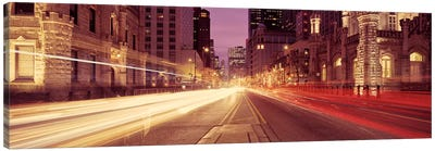 Traffic on the road at dusk, Michigan Avenue, Chicago, Cook County, Illinois, USA #2 Canvas Art Print