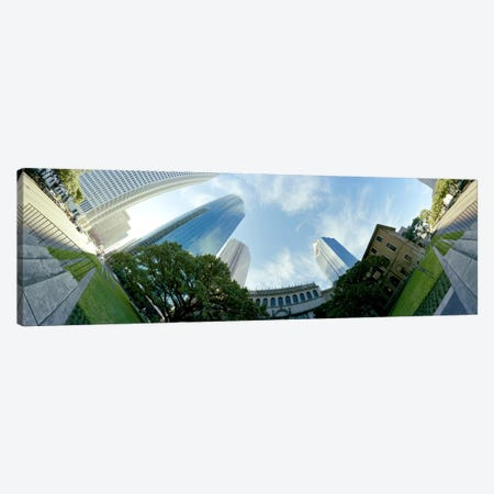 Low angle view of skyscrapersHouston, Harris county, Texas, USA Canvas Print #PIM8214} by Panoramic Images Canvas Art Print
