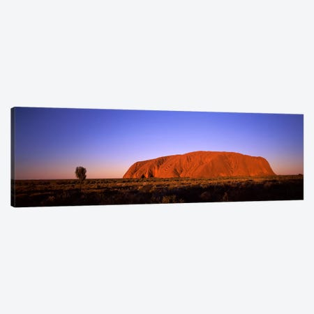 Sunset Over Uluru (Ayers Rock), Uluru-Kata Tjuta National Park, Northern Territory, Australia Canvas Print #PIM8216} by Panoramic Images Canvas Art Print