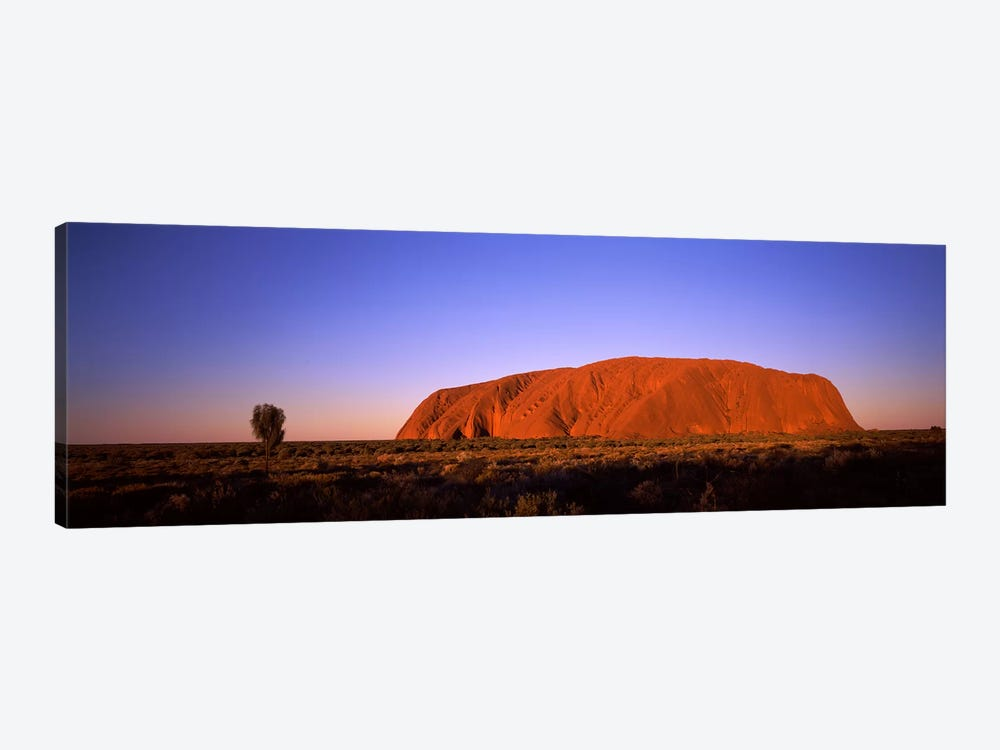 Sunset Over Uluru (Ayers Rock), Uluru-Kata Tjuta National Park, Northern Territory, Australia by Panoramic Images 1-piece Art Print