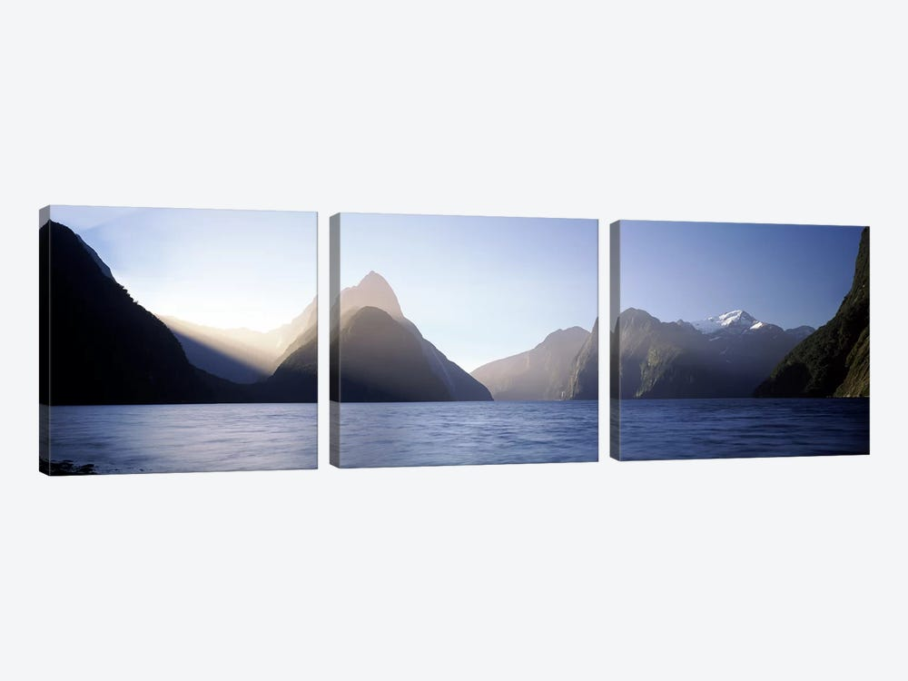 Mitre Peak, Milford Sound, Fiordland National Park, South Island, New Zealand by Panoramic Images 3-piece Art Print