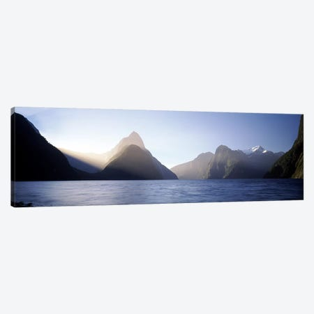 Mitre Peak, Milford Sound, Fiordland National Park, South Island, New Zealand Canvas Print #PIM8218} by Panoramic Images Canvas Art