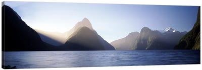 Mitre Peak, Milford Sound, Fiordland National Park, South Island, New Zealand Canvas Art Print