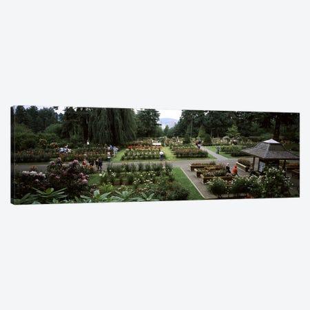 Tourists in a rose garden, International Rose Test Garden, Washington Park, Portland, Multnomah County, Oregon, USA Canvas Print #PIM8219} by Panoramic Images Canvas Wall Art