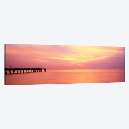 Sunset At PierWater, Caspersen Beach, Venice, Florida, USA Canvas Print #PIM821} by Panoramic Images Canvas Art